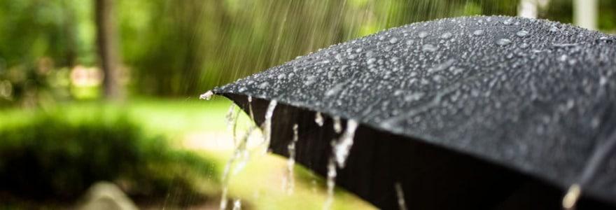 Groningen in de regen