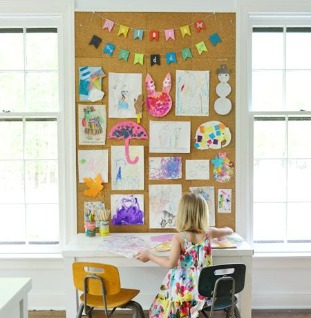 Kindertekening prikbord