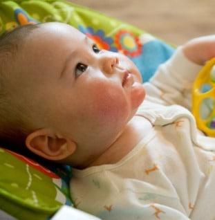 baby kinderdagverblijf eerste dag